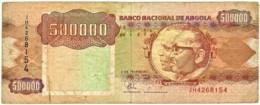 Angola - 500 000 Kwanzas - 04.02.1991 - Pick 134 -Sign. 19-Série JH - José Eduardo Dos Santos E Agostinho Neto 500000 - Angola