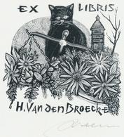 Ex Libris H. Van Den Broecke - Jan Meeus Gesigneerd - Ex-libris