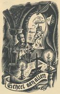 Kleingrafiek 'Dank Voor Genade Van Het Priesterschap 1943 Jan Frateur - Door Jef Leysen - Prenten & Gravure