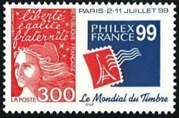 N° 3127  Année 1997  Philexfrance 99 Faciale 3,00 Francs - France