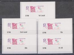 Singapore 2020 Rat Year Zodiac ATM Frama Machine Labels Mint - 5 Values - Vignettes ATM - Frama