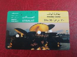 Tamura Phonecard,UAE26 Pearl/Shell Fountain, Used - Emirats Arabes Unis
