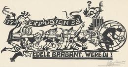 Nieuwjaarskaart 1958 - Expo 58 - Leo Muyldermans Gesigneerd - Estampes & Gravures