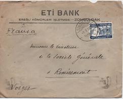 ENVELOPPE COMMERCIAL  ETI BANK  ZONGULDAK  CACHET 1933 - 1921-... Republiek