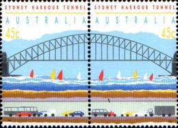 Australie Poste N** Yv:1276/1277 Port De Sydney Ouverture Du Tunnel De Liaison (Thème) - Ponts
