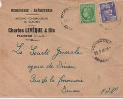 PLUDUNO  CHARLES LEVEQUE & FILS  ENVELOPPE COMMERCIAL  CACHET 1948 - Covers & Documents