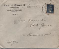 ENVELOPPE COMMERCIAL  EREYLI SIRKETI  ZONGULDAK  CACHET 1936 - 1921-... Republiek
