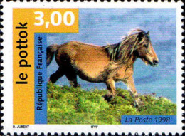 France Poste N** Yv:3184 Mi 3328 Yv:1,4 Euro Le Pottok Cheval - Francia