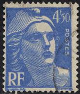 France Poste Obl Yv: 718A Mi: 797 Yv:0,15 Euro Marianne (Gandon) (cachet Rond) - Francia