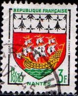 France Poste Obl Yv:1185 Mi 1222 Yv:0,15 Euro Nantes Armoiries (TB Cachet Rond) - Francia