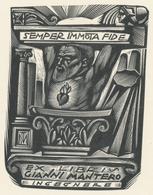 Ex Libris Gianni Mantero - Tranquillo Marangoni (1912-1992) (gestempeld Op Rug) - Ex-libris