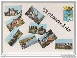 45)  Châtillon Sur Loir.- Ultivues + Blason - (oblitération De 1960) - Chatillon Sur Loire