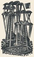 Ex Libris Vicente Martinez Yuste - Tranquillo Marangoni (1912-1992) - Exlibris