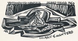Ex Libris Gianni Mantero, VII Congresso Europeo Di Exlibris, Vienna 1960 - Tranquillo Marangoni (1912-1992) - Ex-libris