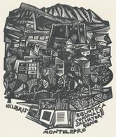 Ex Libris Biblioteca Comunale Salvatore Bono, Montelepre - Tranquillo Marangoni (1912-1992) - Exlibris