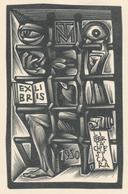 Ex Libris Libertà Ch'è Si Cara - Tranquillo Marangoni (1912-1992) - Ex-libris