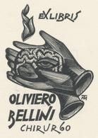 Ex Libris Oliviero Bellini - Tranquillo Marangoni (1912-1992) - Exlibris