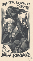 Ex Libris Johan Schwencke - Tranquillo Marangoni (1912-1992) Monogram - Ex-libris