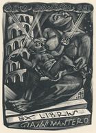 Ex Libris Gianni Mantero - Tranquillo Marangoni (1912-1992) - Ex-libris