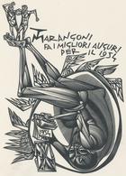 Nieuwjaarskaart  Carta Di Capodanno 1954 Tranquillo Marangoni - Tranquillo Marangoni (1912-1992) Gesigneerd - Prenten & Gravure