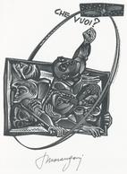 Nieuwjaarskaart  Carta Di Capodanno 1958 Tranquillo Marangoni - Tranquillo Marangoni (1912-1992) Gesigneerd - Prenten & Gravure