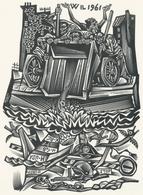 Nieuwjaarskaart  Carta Di Capodanno 1961 Tranquillo Marangoni - Tranquillo Marangoni (1912-1992) Gesigneerd - Prenten & Gravure