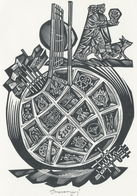 Nieuwjaarskaart  Carta Di Capodanno 1976 Tranquillo Marangoni - Tranquillo Marangoni (1912-1992) Gesigneerd - Prenten & Gravure