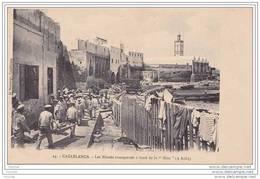 """Casablanca.- (Maroc)   Les Blessés Transportés à Bord De La  """""""""""""""""""""""""""""""" Nive """"""""""""""""""""""""""""""""  (9 Août)  - (belle Animation) - Casablanca"""