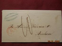 Lettre De 1862 D'Amsterdam Pour Arnheim - Marcofilia