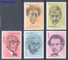 Switzerland 1972 Mi 979-983 MNH ( ZE1 SWT979-983dav61C ) - Nobel Prize Laureates