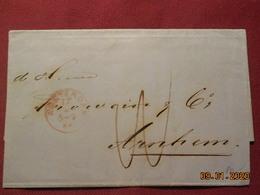 Lettre De 1866 D'Amsterdam Pour Arnhem - Marcofilia