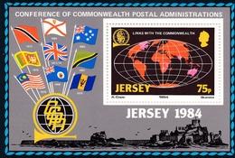 Jersey, 1984, 323, Block 3, Postkonfrenz CCPA, Postconcentration CCPA .  MNH ** - Jersey