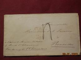 Lettre De 1860 Pays-Bas Par Anvers Pour Bruxelles - Marcofilia