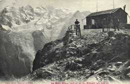 Le Mont Blanc (4810m) Vu Du Brévent (alt 2525m)  Refuge Personnages Cheval RV - Chamonix-Mont-Blanc