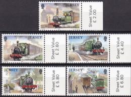 Jersey, 1985, 355/59, Historische Eisenbahnen, Historical Railways.  MNH ** - Jersey