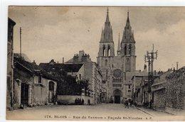 Blois Rue Du Sermon Facade St Nicolas - Blois