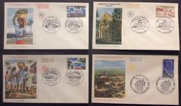 0376 Martinique 1644 Chancelade 1645 Guadeloupe 1646 Observatoire 1647 FDC Premier Jour 1970 Lot 4 Lettre - FDC