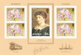 """Jersey, 1986, 372/73, Block 4, """"Lilien"""" Von Jersey. """"Lilies"""" Of Jersey.  MNH ** - Jersey"""