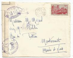 PAU 90C SEUL LETTRE PARIS XI 5.IX.1939 POUR MAINE ET LOIR CENSURE IB 119 EN VIOLET + COMMISSION - Guerra Del 1939-45