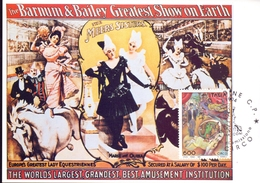 CIRCO MEERS SISTERS THE BARNUM E BSILEY  UDINE   FDC  1994 MAXIMUM POST CARD (GENN200075) - Costumi