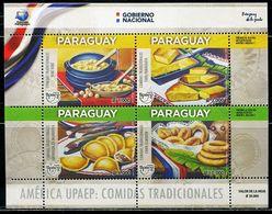 XC1294 Paraguay 2019 Amerika Gourmet Dumpling Cake Etc S/S MNH - Paraguay