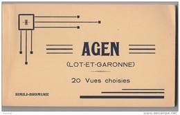 M18- 47) AGEN - CARNET COMPLET DE 20 CPA  - EDITEUR NOUVELLES GALERIES BILLIÈRES -  (VOIR DETAILS - 4 SCANS) - Agen