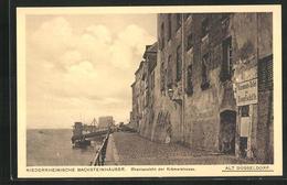 AK Alt-Düsseldorf, Niederrheinische Backsteinhäuser, Rheinansicht Der Krämerstrasse - Duesseldorf