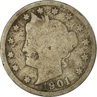Monnaie, États-Unis, Liberty Nickel, 5 Cents, 1901, U.S. Mint, Philadelphie - Federal Issues