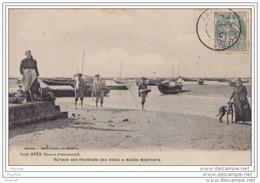 33) Arès (Bassin D' Arcachon) Retour Des Pêcheurs Des Parcs à Marée Montante - (belle Animation) - Arcachon