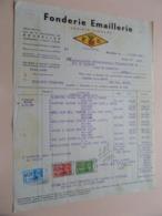 Fonderie EMAILLERIE ( F E ) Bruxelles - Anno 1939 ( Zie/Voir Foto ) Taxe ! - Belgio
