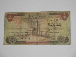 1/2 Half  Dinar - IRAQ- Central Bank Of Irak **** EN ACHAT IMMEDIAT **** - Iraq