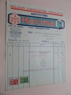MAXIMA Belgian Lubricating Products CUESMES - Anno 1939 ( Zie/Voir Foto ) Taxe ! - Belgio
