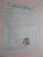 Machines Agricoles J. GILLET - SCHMITZ > GOUVY Station - Anno 1930 ( Zie/Voir Foto ) Taxe ! - Agricoltura