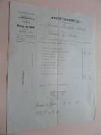 AVERTISSEMENT Exercise 1932 > BOUSSU-en-FAGNE Arr. Philippeville - Anno 1933 ( Zie/Voir Foto )  ! - Belgio